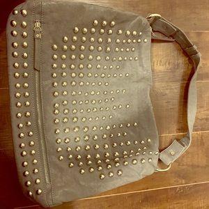 Handbags - Grey bag with stunning silver studs